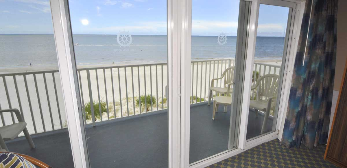 Enjoy amazing beach views and sounds from our beach side units.
