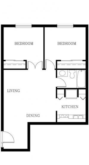 Unit 208 | Two Bedroom